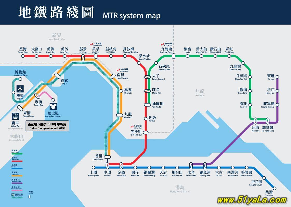 香港地铁路线图-香港旅游地图 香港旅游地图介绍 香港旅游地图网图片