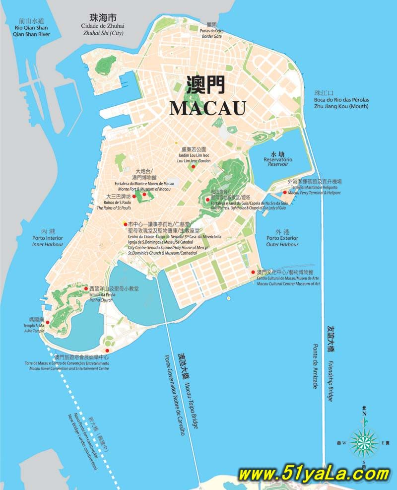 澳门地理位置图