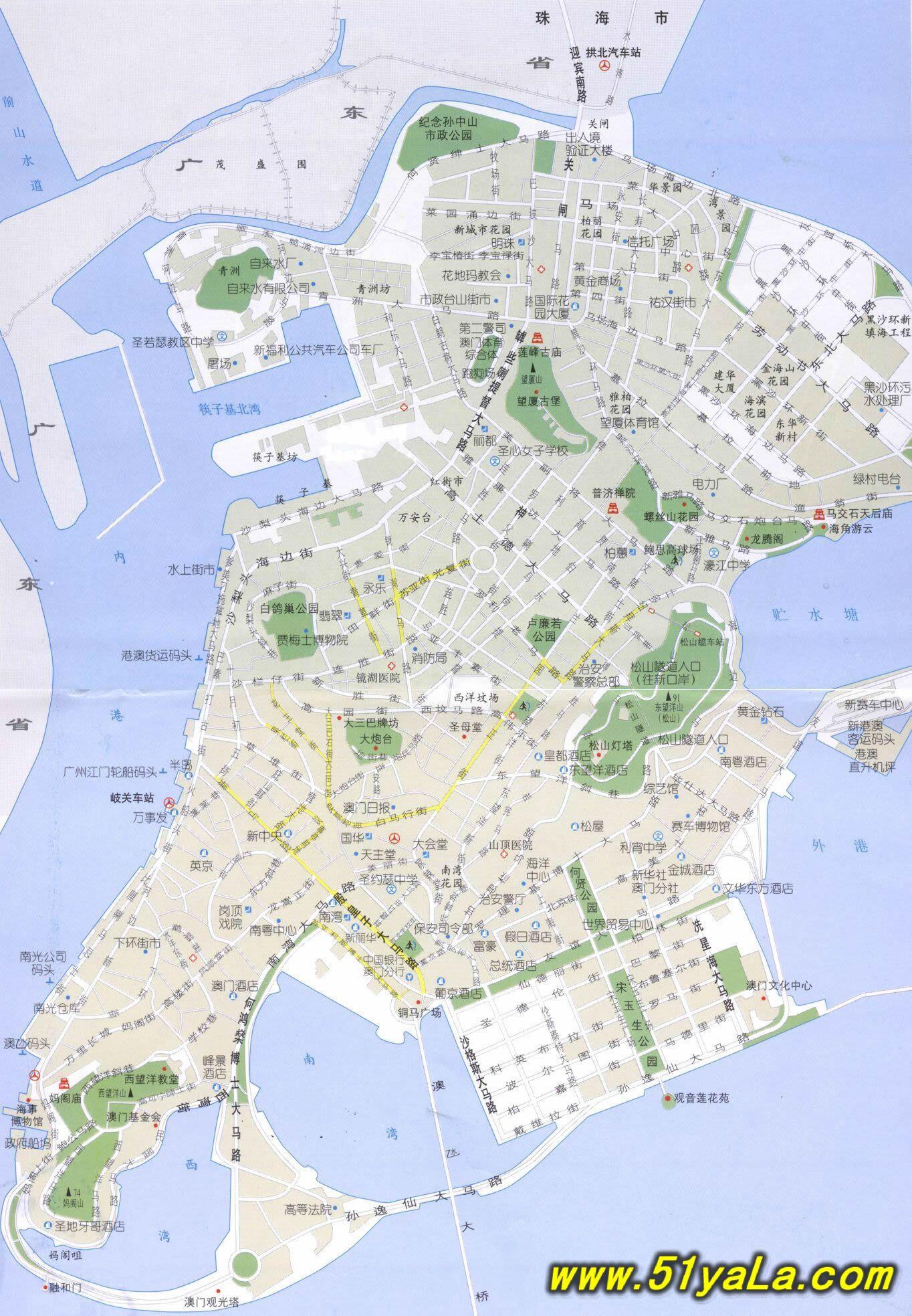 旅游地图,旅游景点地图信息等地图下载,同时包含澳门旅游景