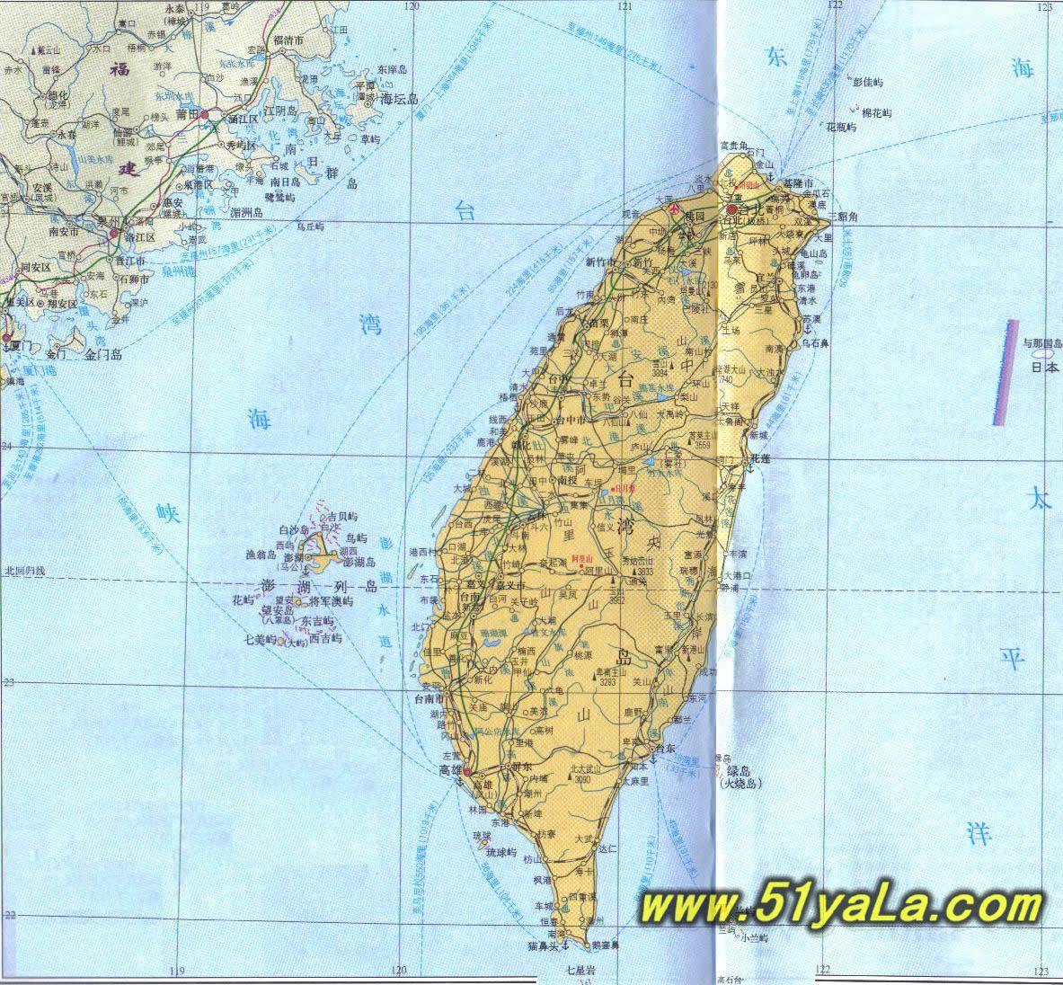 台湾旅游地图介绍 台湾旅游地图网