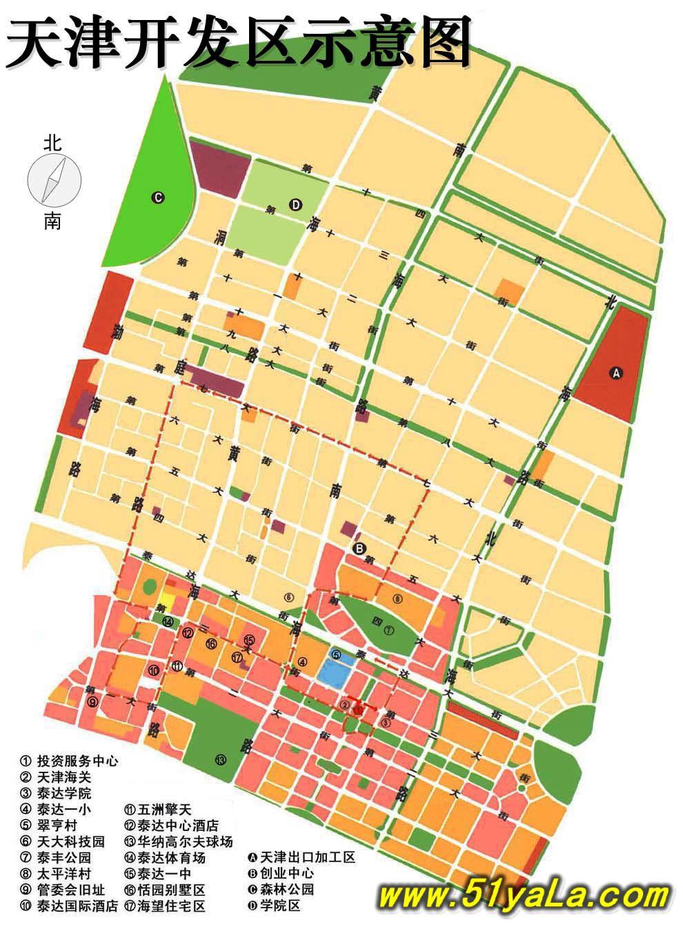 天津旅游地图图片