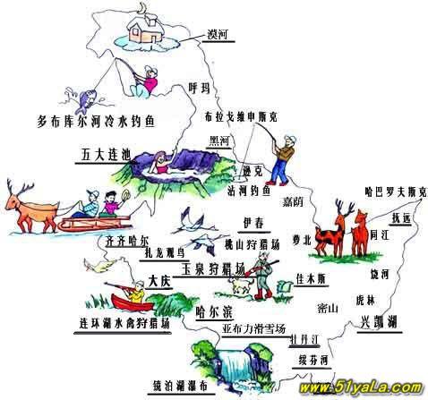 黑龙江旅游地图 黑龙江旅游地图介绍 黑龙江旅游