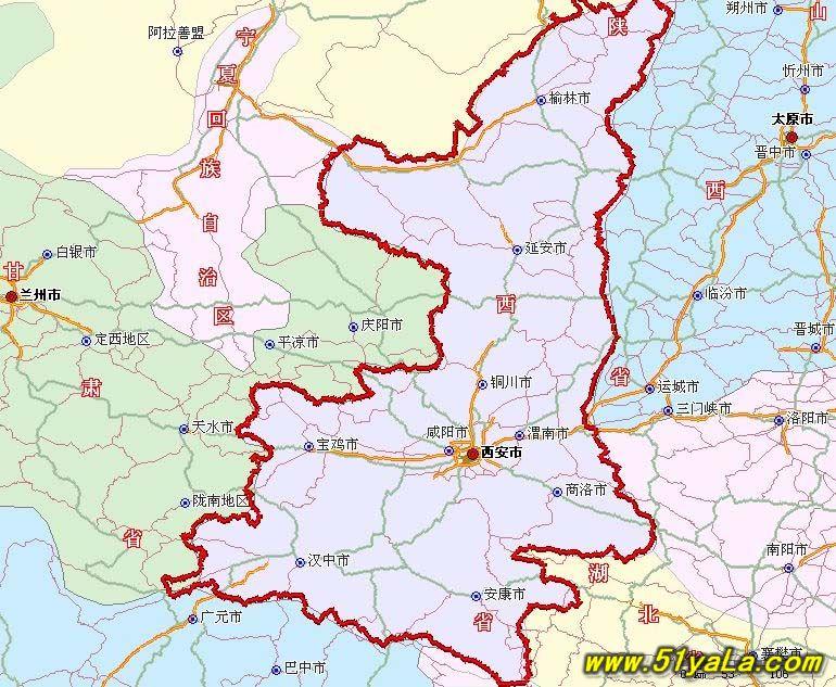 陕西旅游地图图片