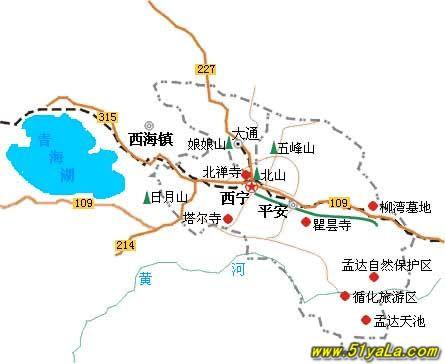 西宁旅游地图;; 地图;;