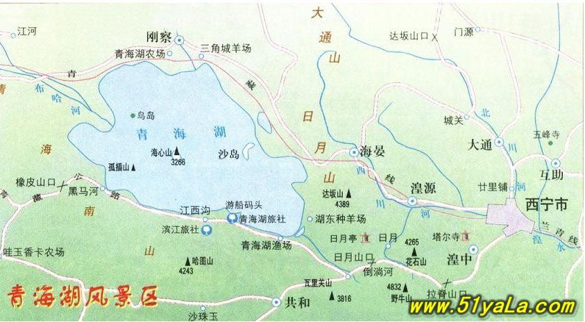 青海湖风景区旅游地图-青海旅游地图 青海旅游地图高清版 青海旅游地图片