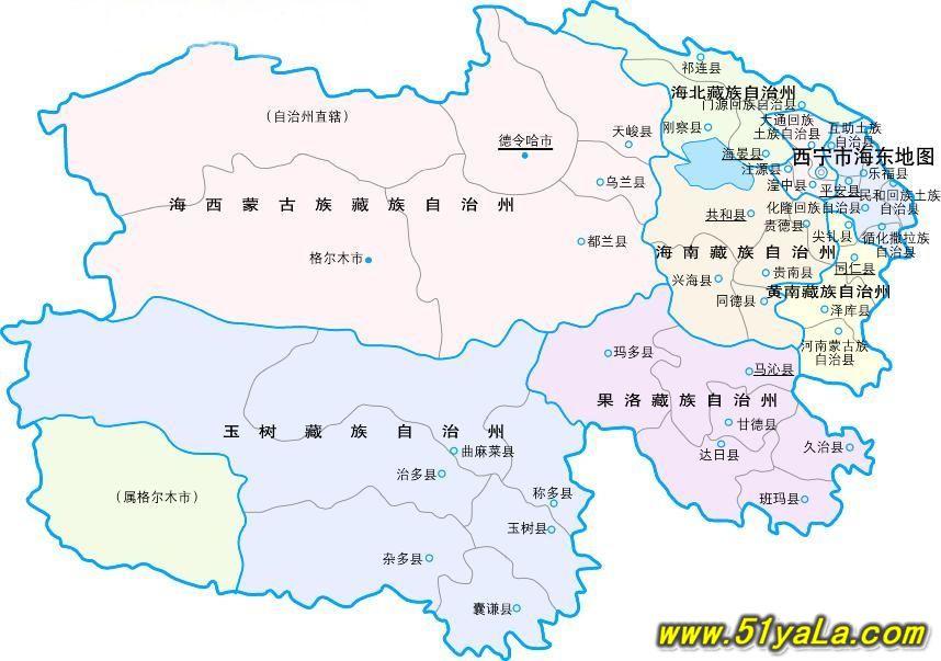 青海旅游地图 青海旅游地图介绍