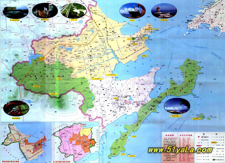 山东旅游地图图片
