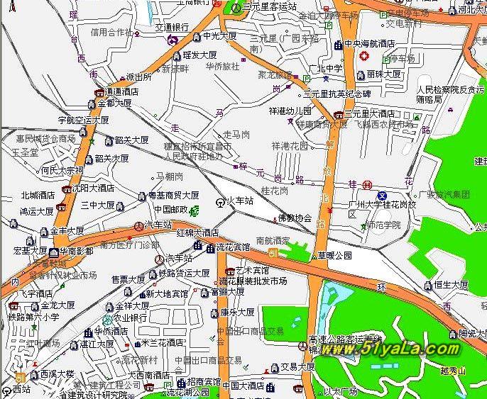 广东旅游地图图片