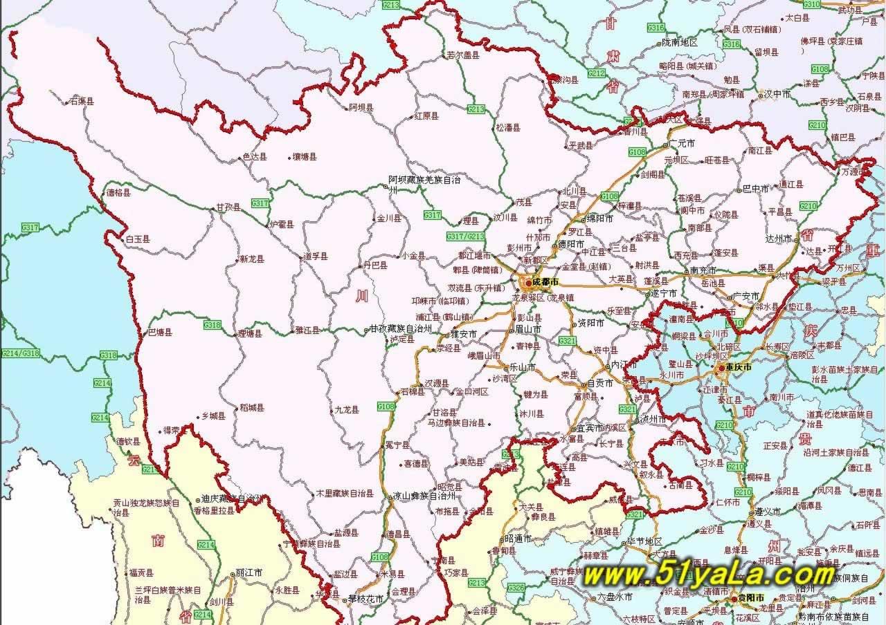 四川旅游地图图片
