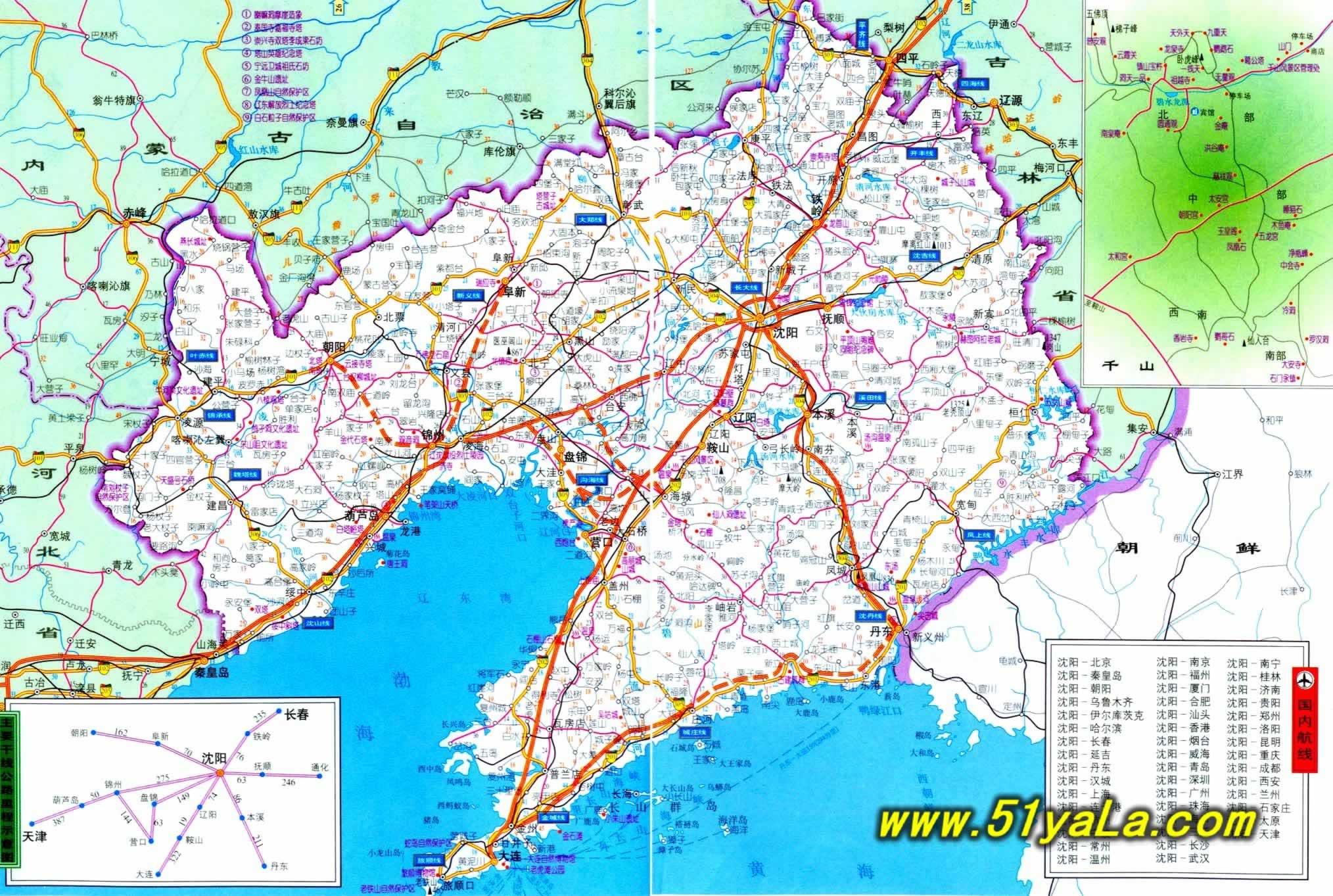 辽宁旅游地图 辽宁旅游地图介绍
