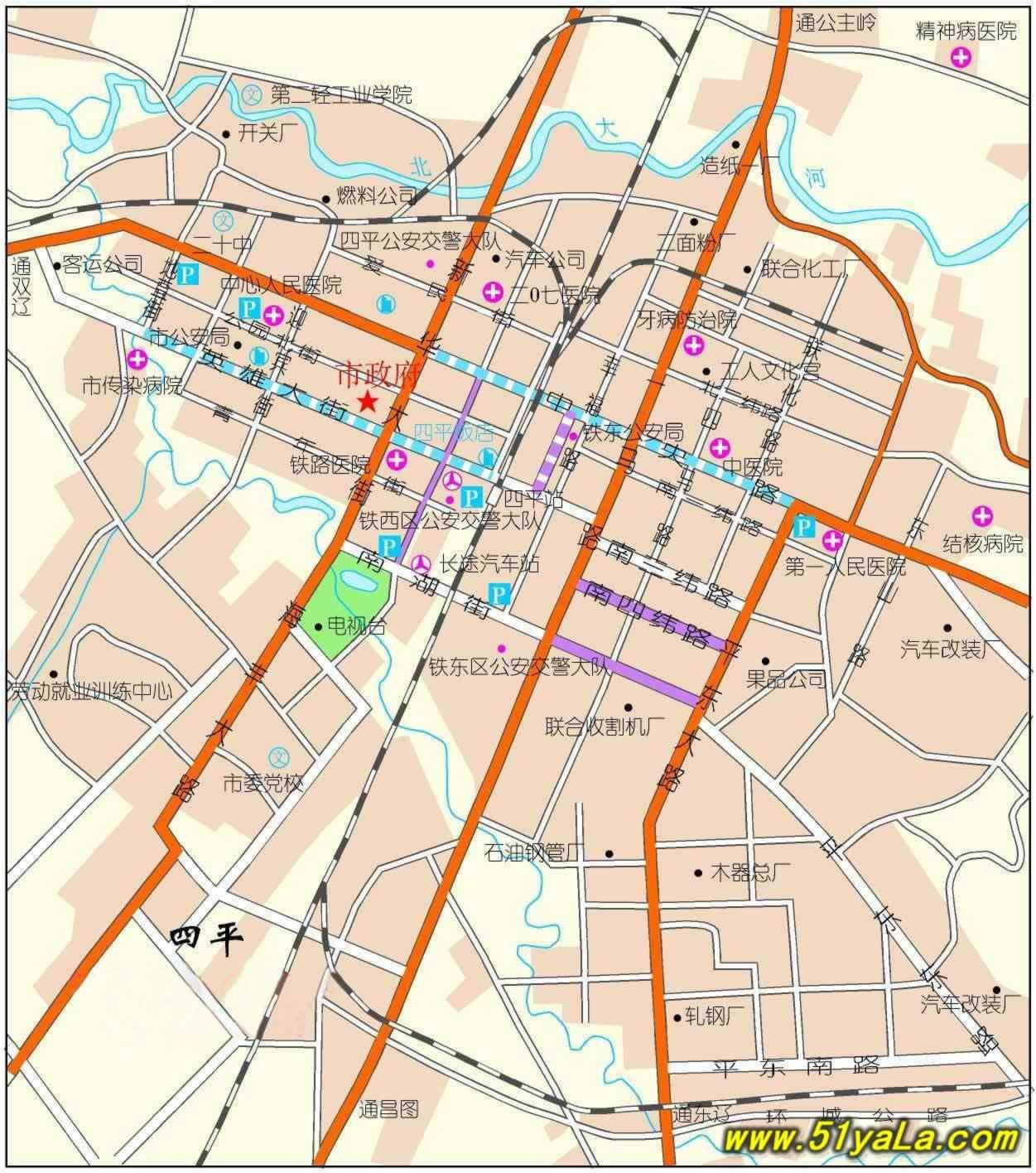 吉林市市区地图