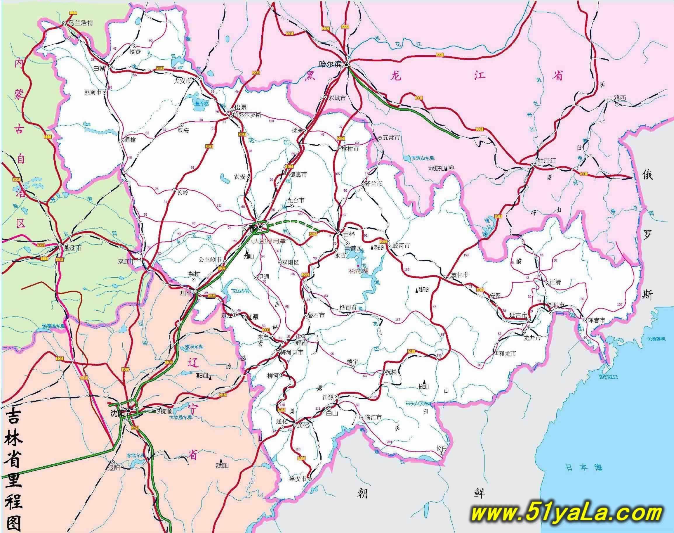 吉林旅游地图 吉林旅游地图介绍图片